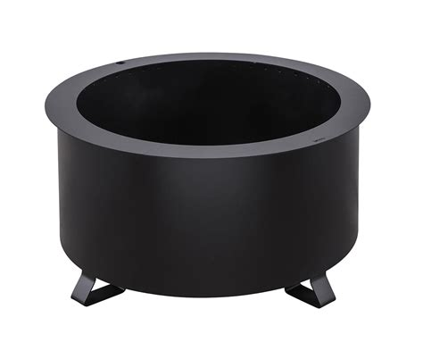 """Besides this fire pit being integrated with your smartphone, it also serves as a kickass charcoal/wood grill. Breeo Double Flame 24"""" Smokeless Fire Pit - Black - Meadow ..."""