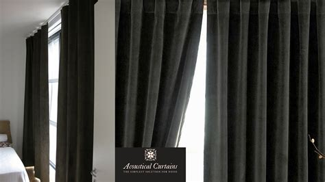 sound proof curtains window soundproofing acoustical curtains