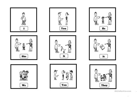 Subject Pronouns  Cards Worksheet  Free Esl Printable Worksheets Made By Teachers
