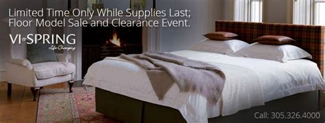 Vi-spring Floor Model Clearance Sales Event