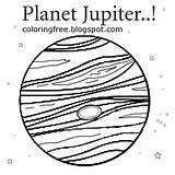 Coloring Planet Space Jupiter Drawing Solar System Printable Children Easy Education Earth Movie Star Cartoon Sketch Younger Render Fun Things sketch template