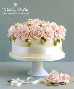 wedding cake with roses bed of roses wedding cake made with by me