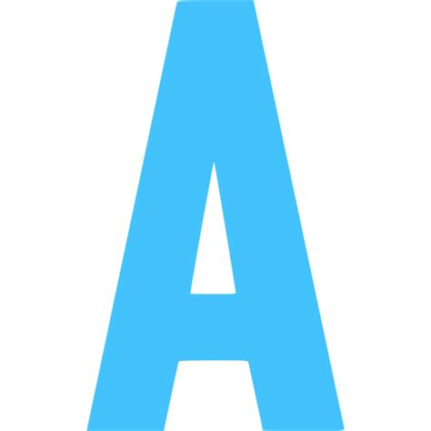 Caribbean blue letter a icon - Free caribbean blue letter ...