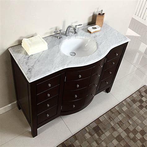 white marble vanity top 48 quot single sink white marble top bathroom vanity cabinet