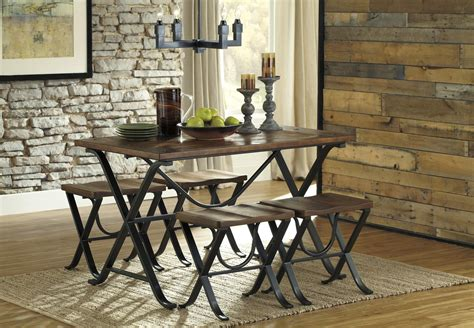 industrial looking dining room tables industrial style rectangular dining room table set by