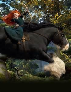 Brave Merida Riding Angus Disney Pins