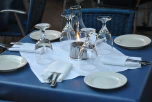 Set Of Blue Table Ls by Table Setting Free Stock Photo Domain Pictures