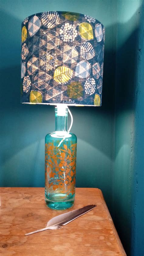 gin bottle lamp  bottle lamp home diy  cut