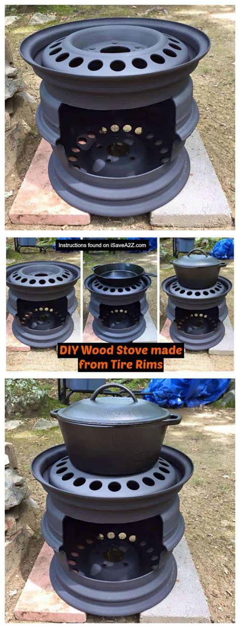 diy wood stove   tire rims isaveazcom
