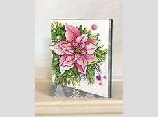 Stampendous Poinsettia Cards with PeggyRunaway Art Salem