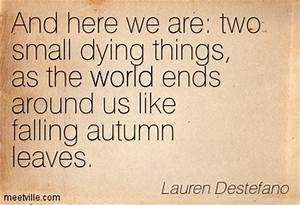 As Autumn Leave... Autumn And Death Quotes