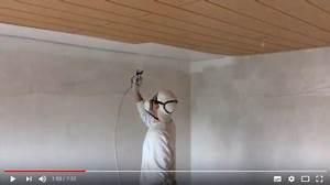 Pistolet Peinture Plafond : repeindre des plafonds en bois et en panneaux l 39 airless ~ Premium-room.com Idées de Décoration