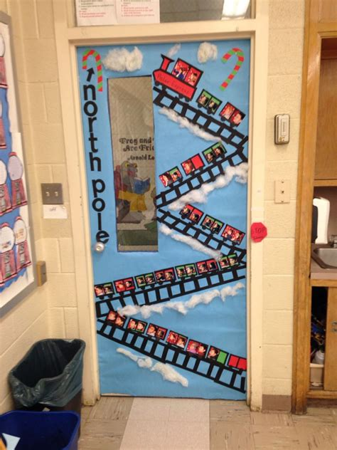 school class room door christmas decoration  kids