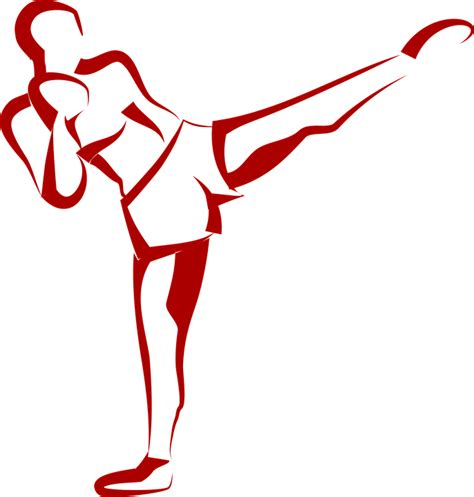 Kick Clipart Free Vector Graphic Fitness Kick Kick Boxer Free