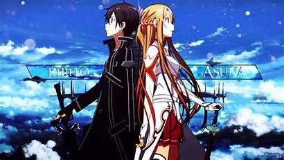 Kirito Sword Asuna Wallpapers Background Anime 4k