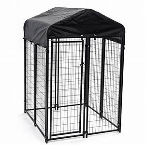 shop lucky dog 4 ft x 4 ft x 6 ft outdoor dog kennel box With lowes outdoor dog pens
