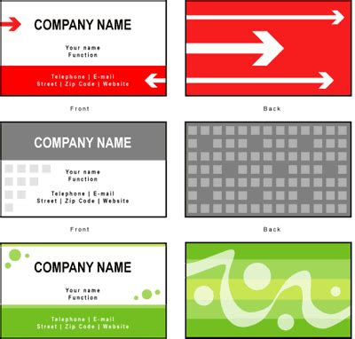 business card examples view  samples  company cards