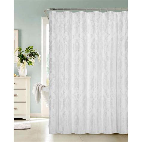 home depot shower curtains vienna 72 in white fabric shower curtain vienscwh the
