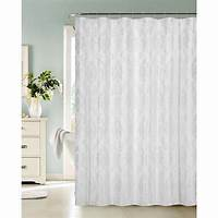 white shower curtain Vienna 72 in. White Fabric Shower Curtain-VIENSCWH - The ...