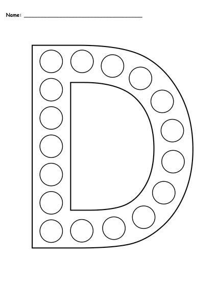 free letter d do a dot printables uppercase lowercase