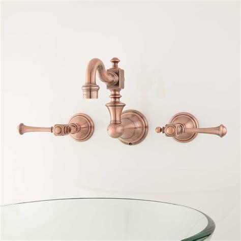 Vintage Wall Mount Faucet by Vintage Wall Mount Bathroom Faucet Lever Handles Bathroom