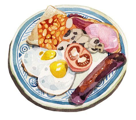 illustration cuisine exley illustration breakfast illustration watercolour food illustration age
