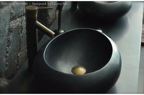 black granite vessel bathroom sinks 19 quot oval black granite stone bathroom vessel sink cocoon