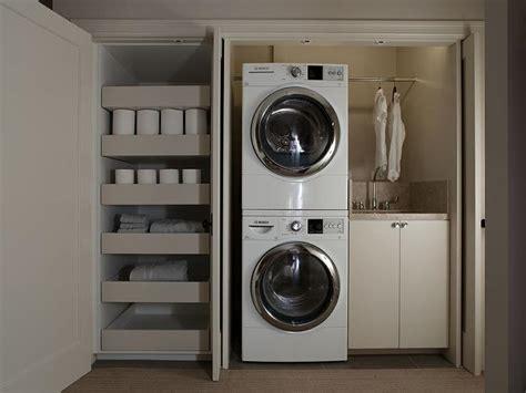 Laundry Room In Closet  Modern  Laundry Room