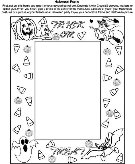 Halloween Frame   crayola.com.au
