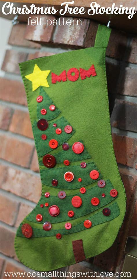 christmas tree felt christmas stocking pattern diy ideas