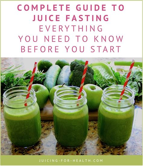 juice fasting juicing guide health complete text