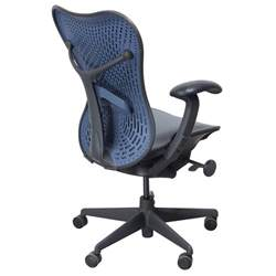 herman miller mirra used mesh airweave seat task chair blue national office interiors and
