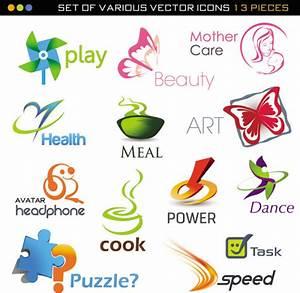 Set of various vector logos Download Free Vectors