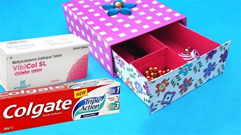 easy    waste craft idea  toothpaste box