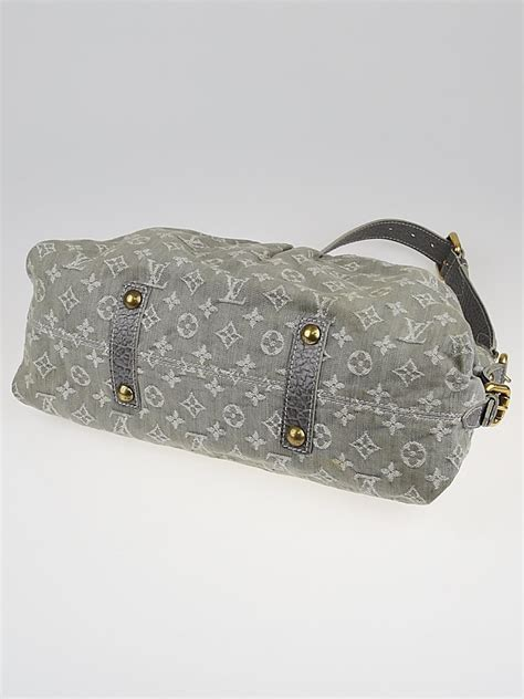 louis vuitton grey denim monogram denim neo cabby bag