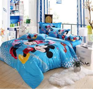 hot 5pcs 3d bedding mickey and minnie mouse comforter