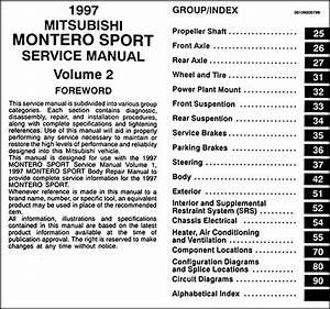 1997 Mitsubishi Montero Sport Repair Shop Manual Set Original