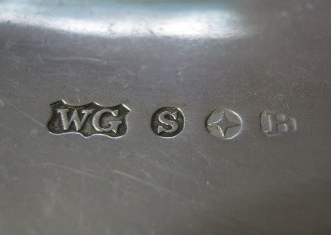identify wg  star  reading silver hallmarks