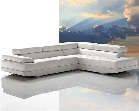 snow white modern full leather sectional sofa set lpnc