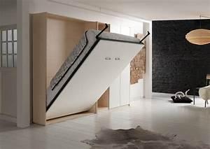 Lit Dans Armoire : lit escamotable 160 x 200 ~ Premium-room.com Idées de Décoration