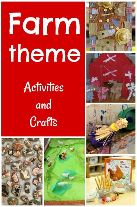 preschool farm theme activities farm animals