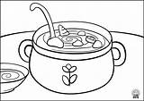 Soup Coloring Template sketch template