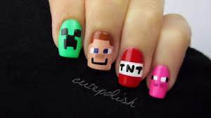 Minecraft nail art nerd series