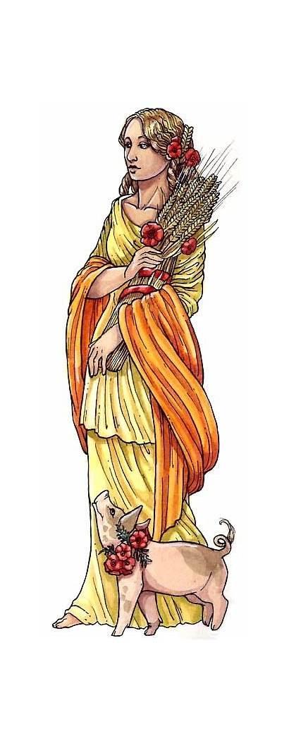 Roman Mythology Goddess Ceres Gods Fertility Ancient