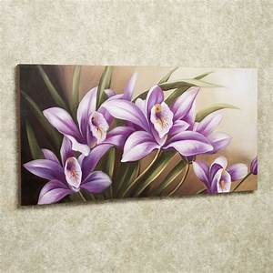 Wild, Orchid, Handpainted, Floral, Canvas, Wall, Art