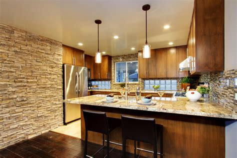 glass backsplash ideas for kitchens mid century modern updated kitchen