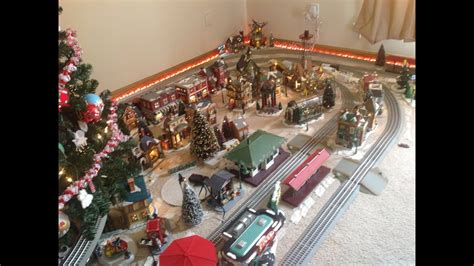 christmas train layout  start  finish youtube