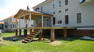 Composite Deck Overhang Modern Shed Roof Screened Porch Plans