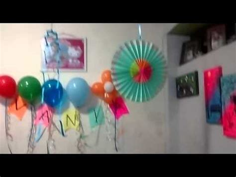 decoracion de cumpleanos sencilloflor de papel youtube