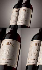 19  Free Wine Bottle Mockups Psd
